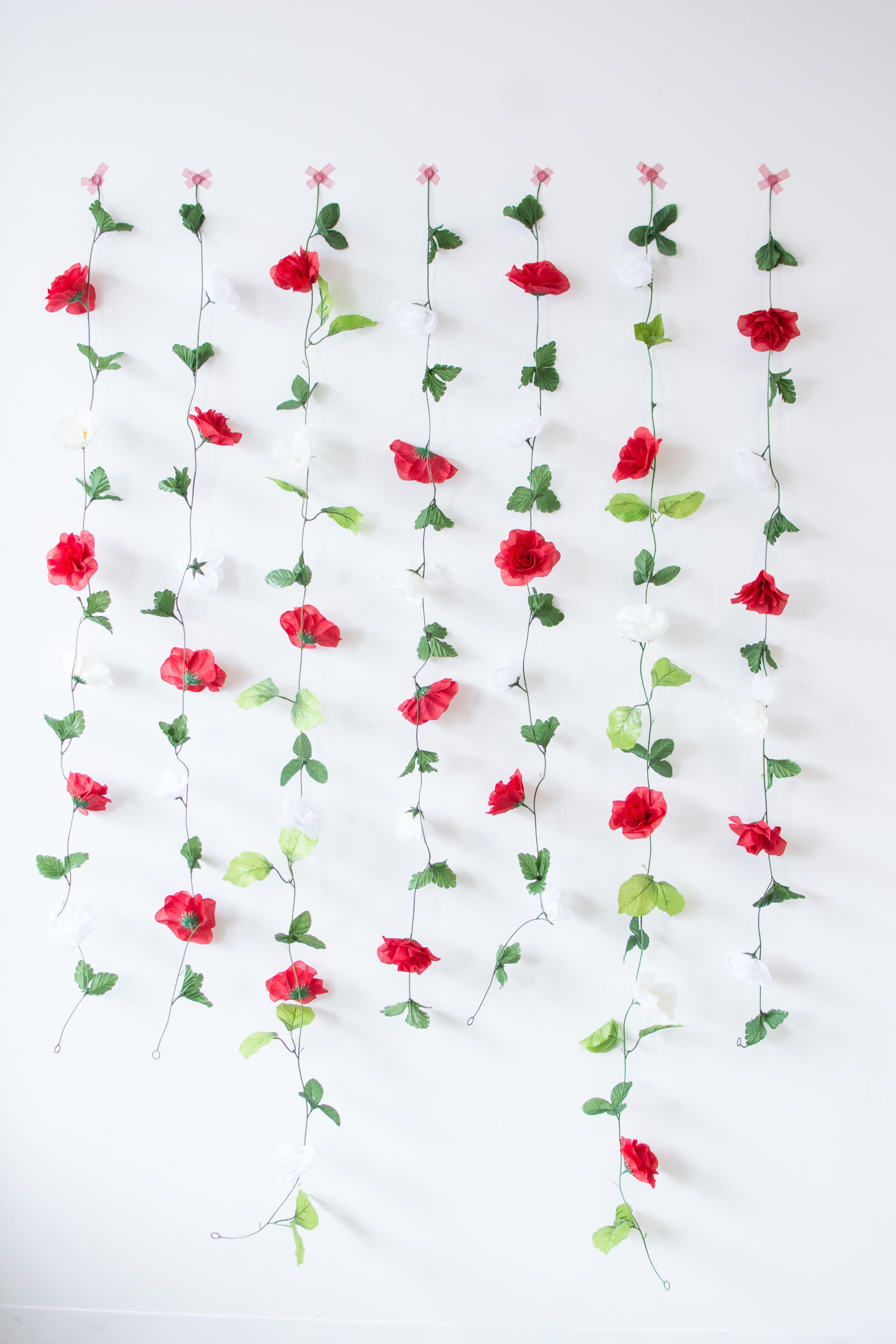 DIY Dollar Store Floral Backdrop Floral backdrop, Diy