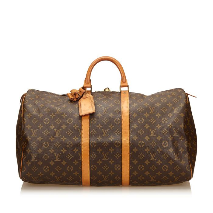 4d5babee8f95 Louis Vuitton - Monogram Keepall 55 De 55 Keepall beschikt over een monogram  canvas lichaam rolde
