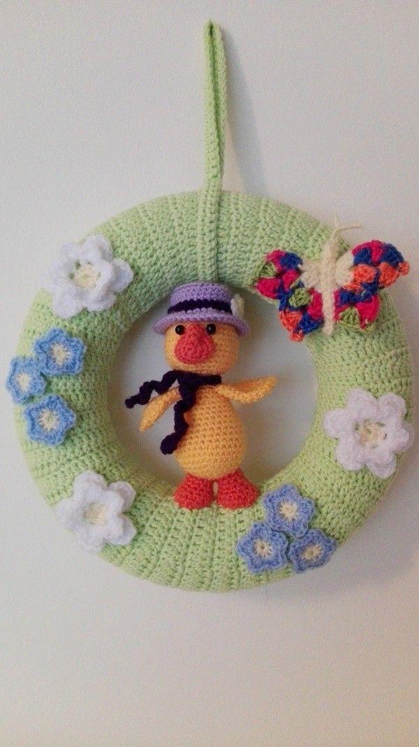 Türkranz Frühlingserwachen Häkeln Wreaths Pinterest