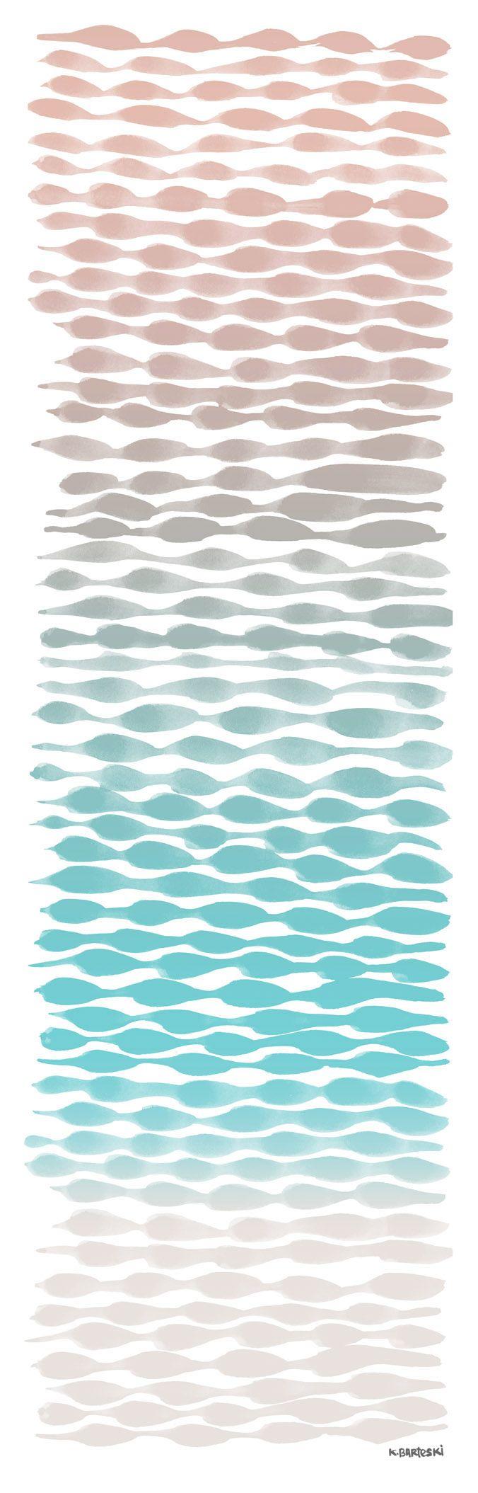sunrise on water. (tinted brush exercise) 2012. K.Barteski