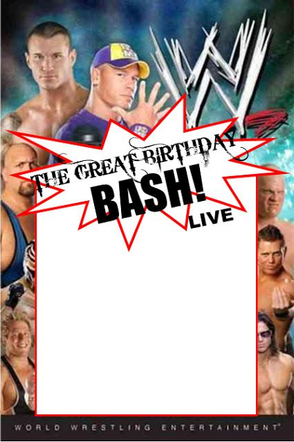 WWE Party Invitation Template Copy paste and edit on computer – Wwe Party Invitations