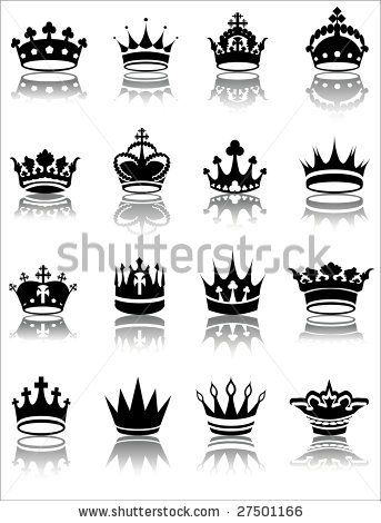 Vector Illustration Of Various Crown Designs By Gabor2100 Via