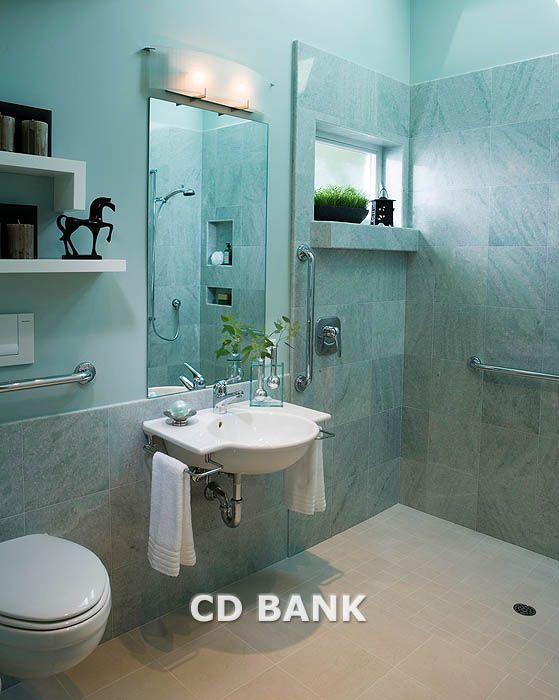 Handicapped Bathroom Ideas Contemporary Bathroom With