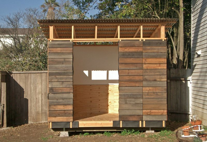 Modern Garage And Shed By Joseph Sandy Siding Is Redwood Fencing