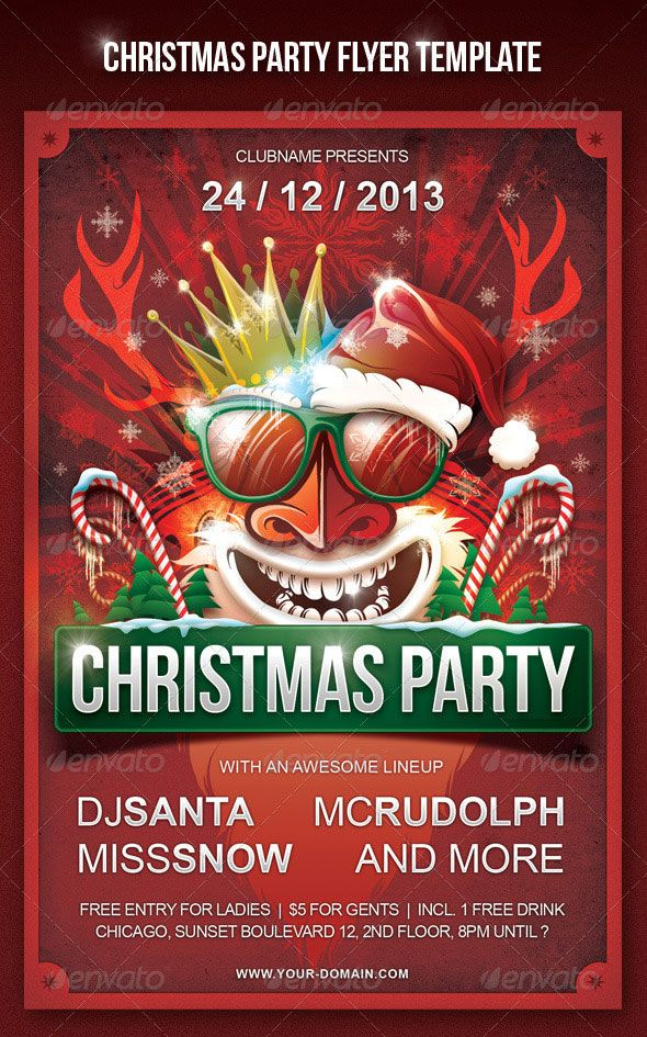 Top  Christmas And New Year Party Flyer  Psd Templates