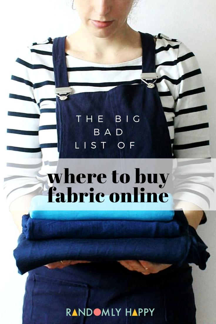große, schlechte liste, wo man stoff online kaufen kann