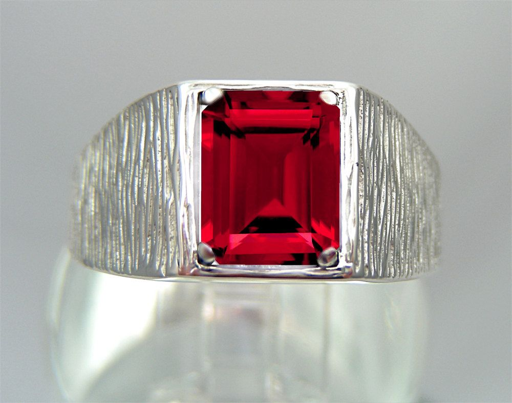Ruby Wedding Gifts For Men: Ruby Mens Ring For Men Ruby Ring Gifts For By