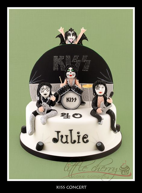 Kiss in Concert Cake by Little Cherry Cake Company, via Flickr