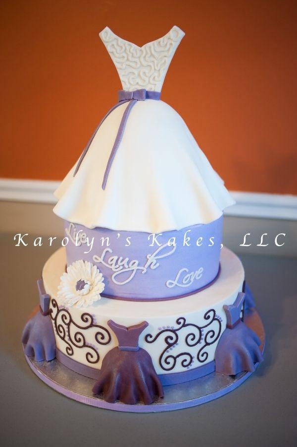 purple bridal shower cake