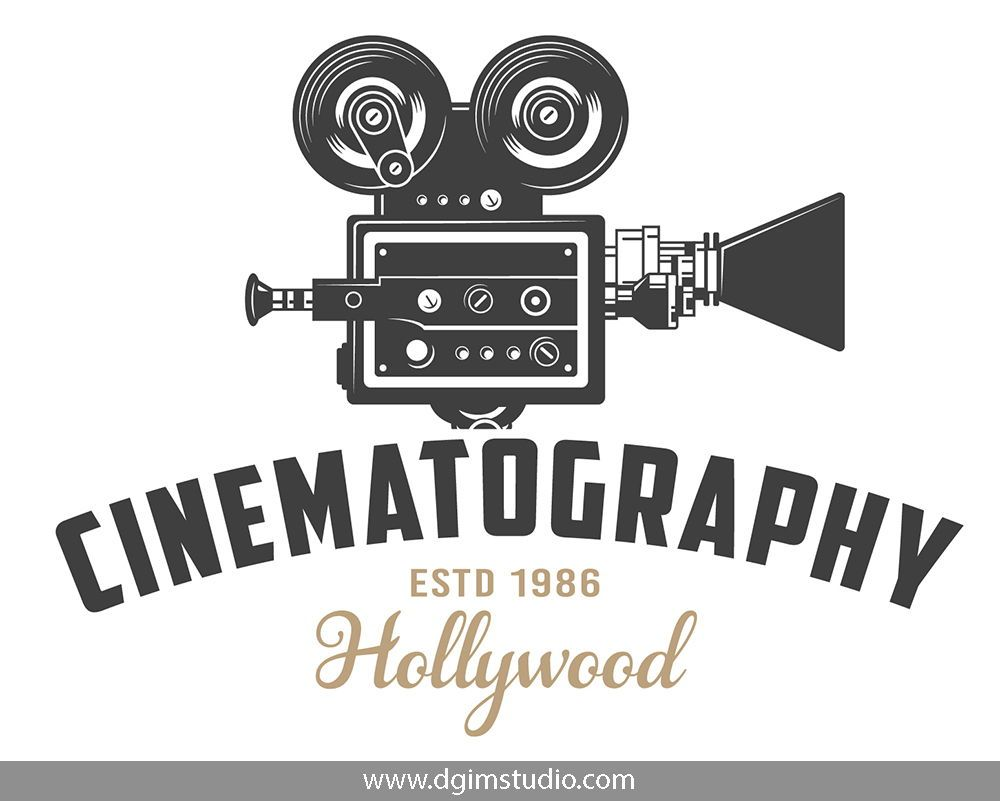 Vintage Cinema Emblem With Movie Camera Click To The Link To Find More Cinema Badges And Emblems Vecto Logo Design Video Camera Illustration Vector Artwork