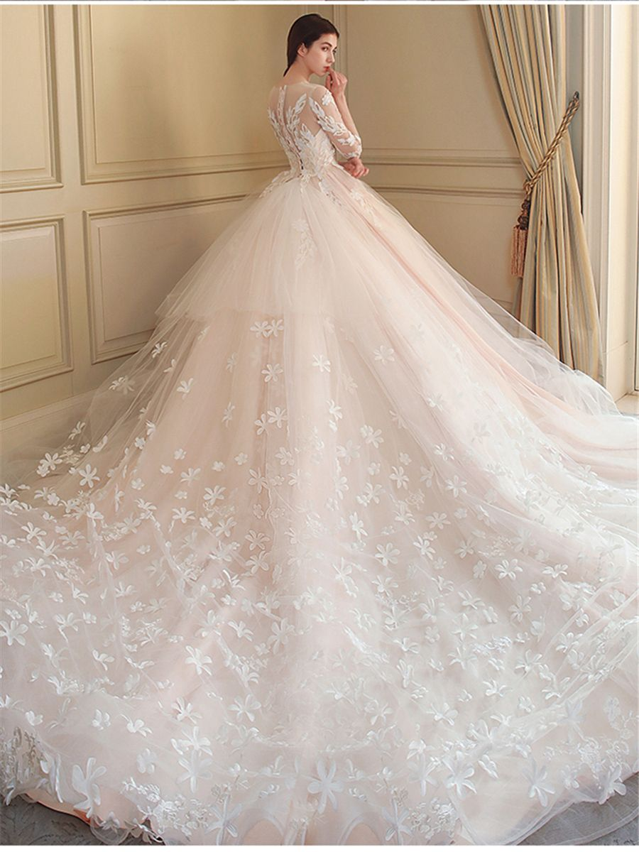 Sequined wedding dress   Dresswe SUPPLIES Sequins Appliques Ball Gown Wedding