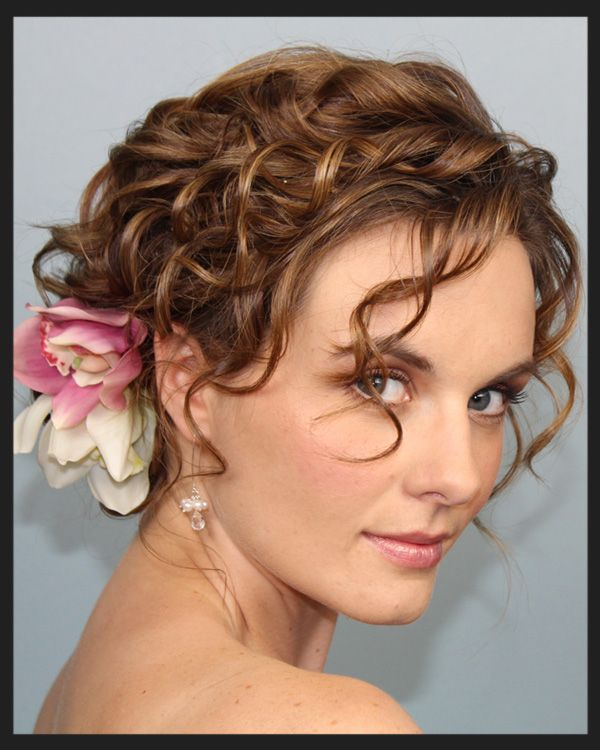 Pleasing Wedding Hairstyles For Short Curly Hair Borbotta Com Hairstyles For Men Maxibearus