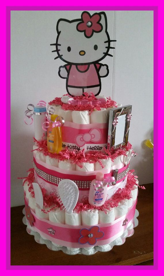 Hello Kitty Baby Shower Decorations : hello, kitty, shower, decorations, Diaper, Girly/Hello, Kitty, Theme, Shower, Hello, Shower,, Baby,