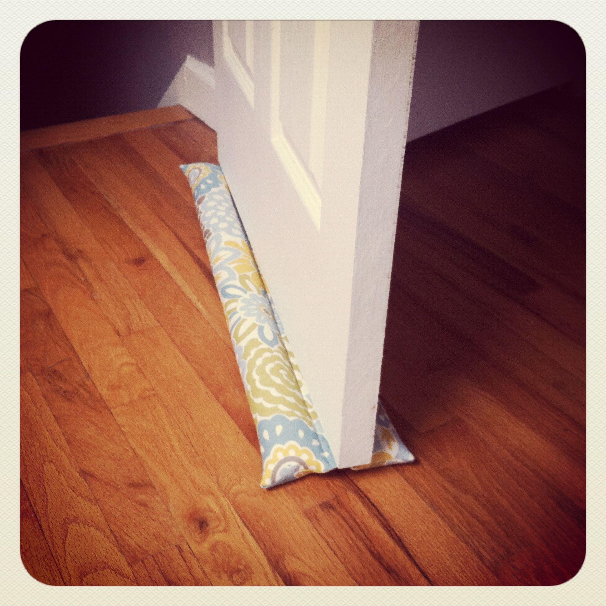 double-sided #DIY door draft stopper