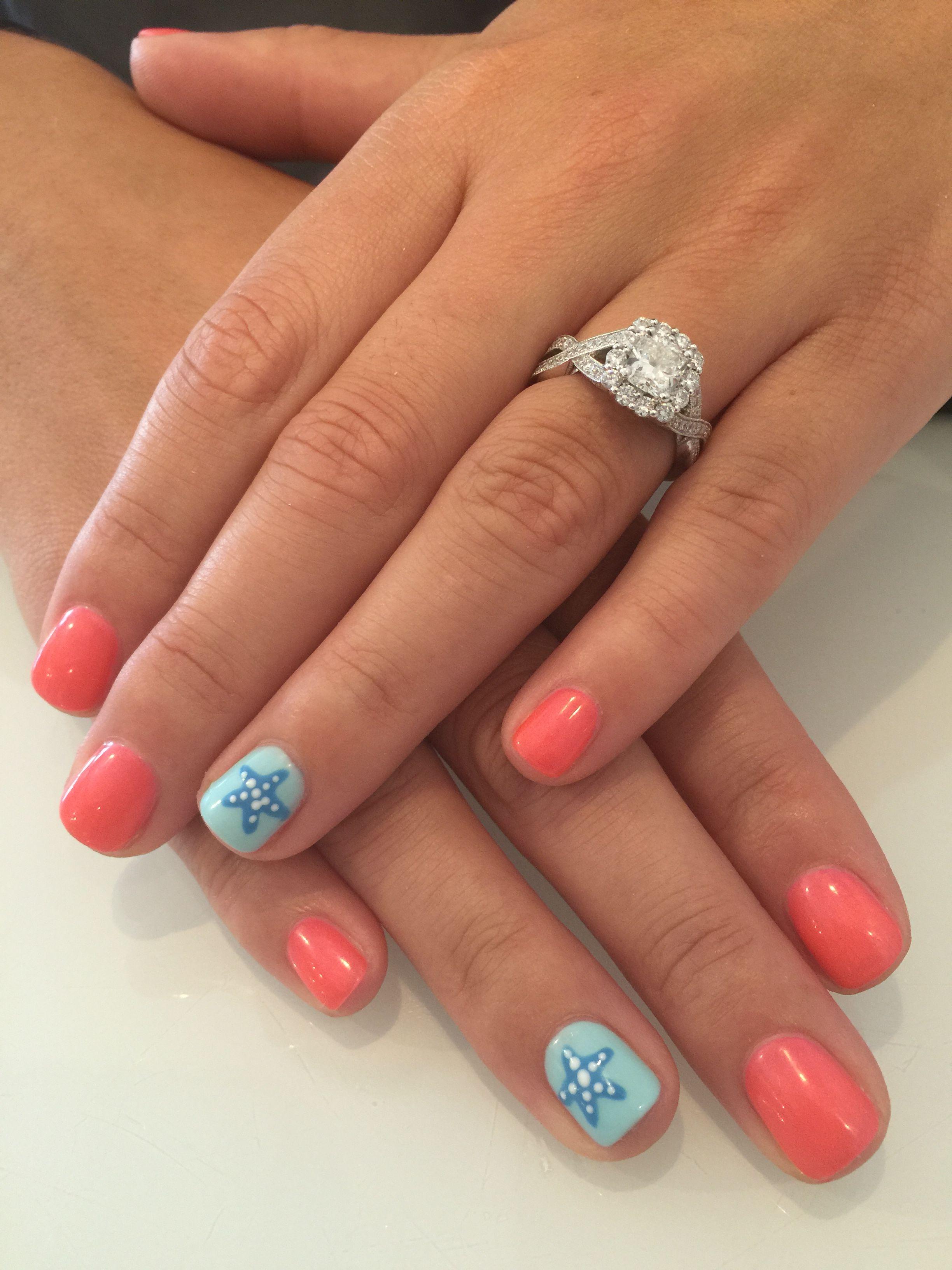 Beautiful Starfish Nail Design Nails Pinterest Zeester