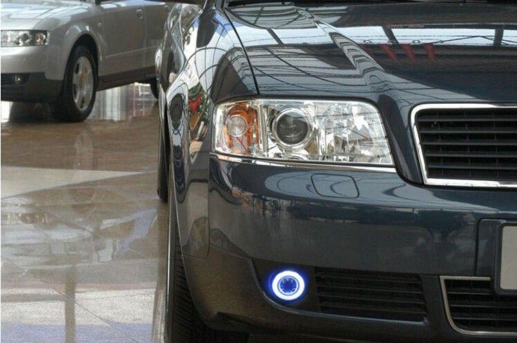 115 00 Buy Here Http Appdeal Ru Dyy2 Drl Cob Angel Eye 6 Colors Halo Fog Lamp E13 Projector Lens Black Fog Lam Audi A6 Car Lights Running Lights
