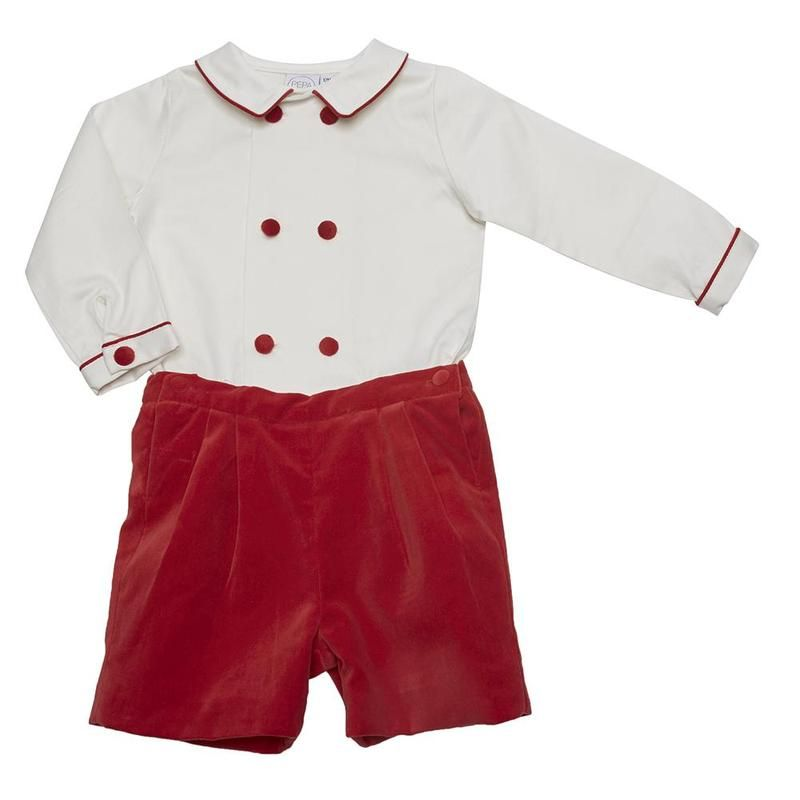 022a9cd0a23c2 Classic Red Velvet Shorts Set Smart Outfit, Heirloom Sewing, Velvet Shorts,  Red Velvet