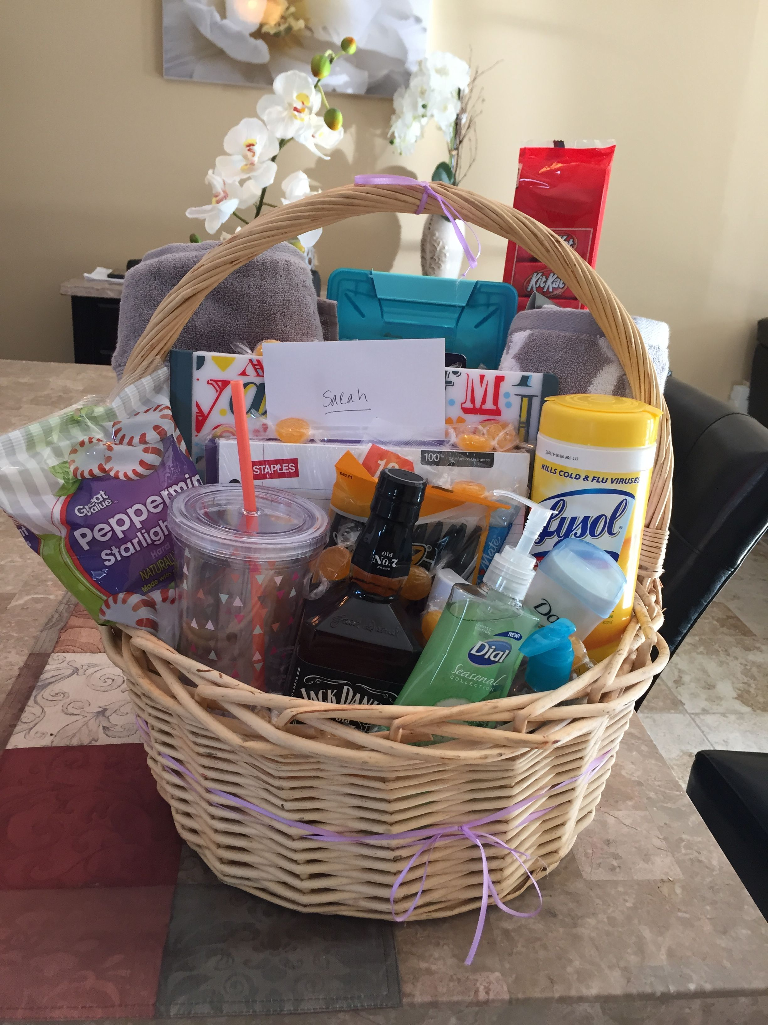 Going Away To College Basket College Gift Baskets College