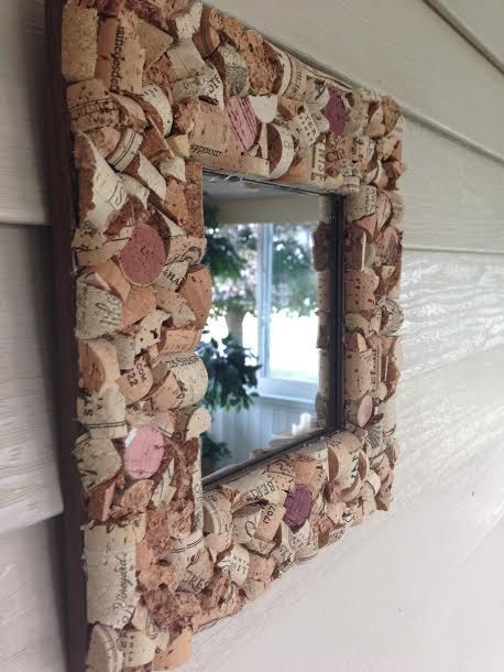 Framing A 10x10 Room: Wine Cork Frame Mirror 10x10 By Thegigglinggrape On Etsy