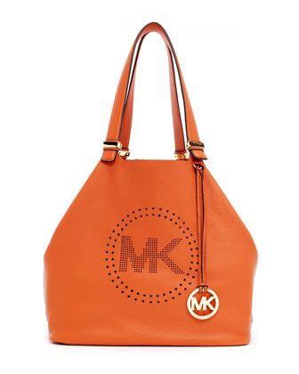 50101aeb0e6a MICHAEL Michael Kors Large Perforated-Logo Grab Bag. Love this ...