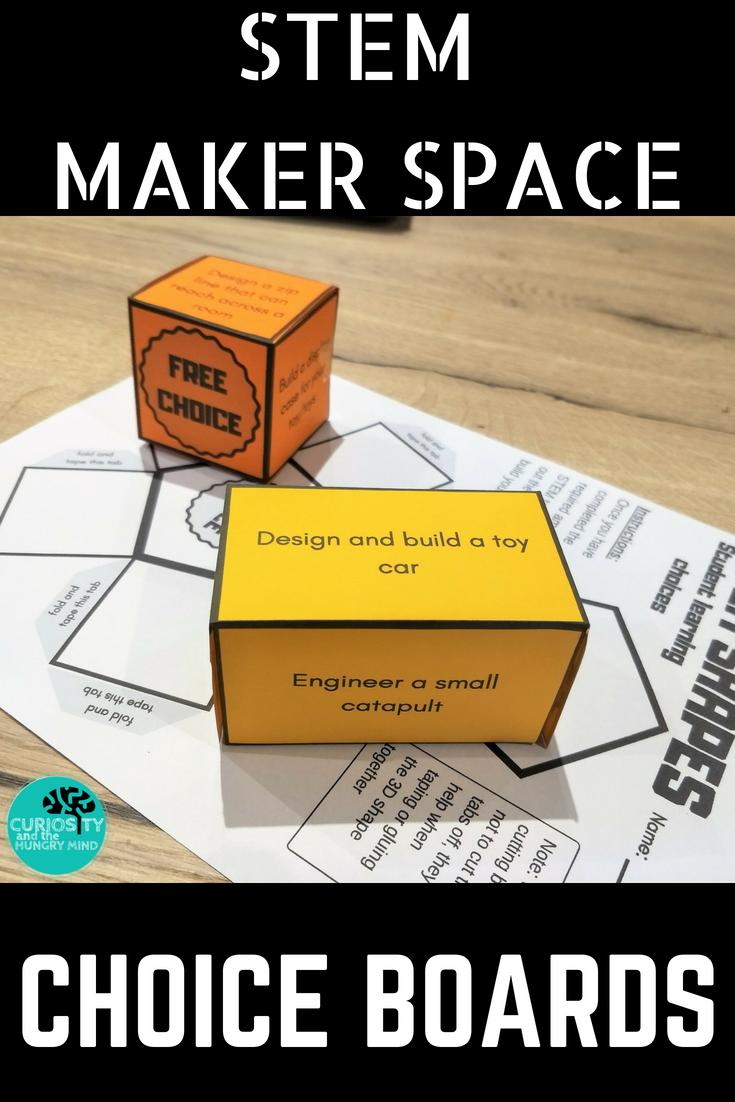 STEM SHAPES choice boards | Pinterest | 3d shapes, Homework ideas ...