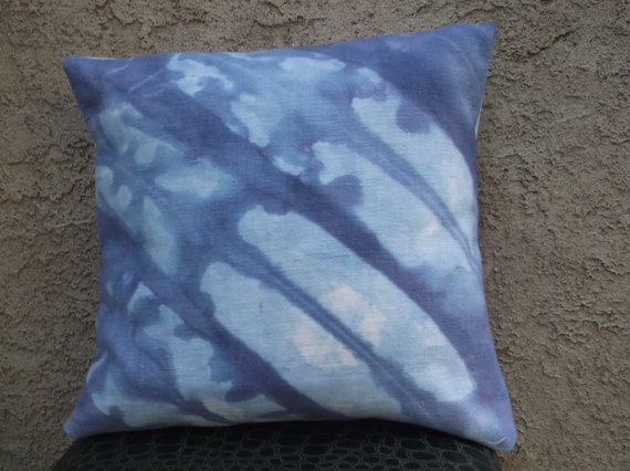 Navy Blue/ Indigo Throw Pillow cover Cotton 16 x 16 by AddisonMade, $45.00