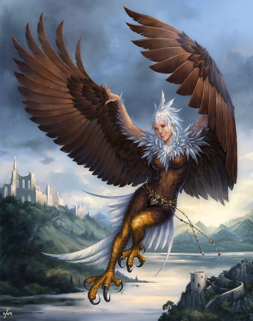 Flying Harpy by Candra friendly female bird
