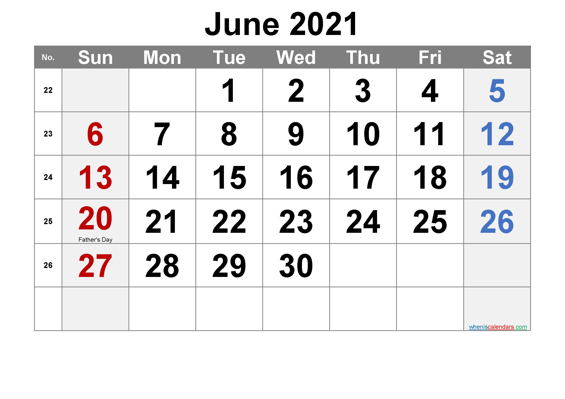 Free Printable June 2021 Calendar In 2020 2021 Calendar Calendar Printables Printables