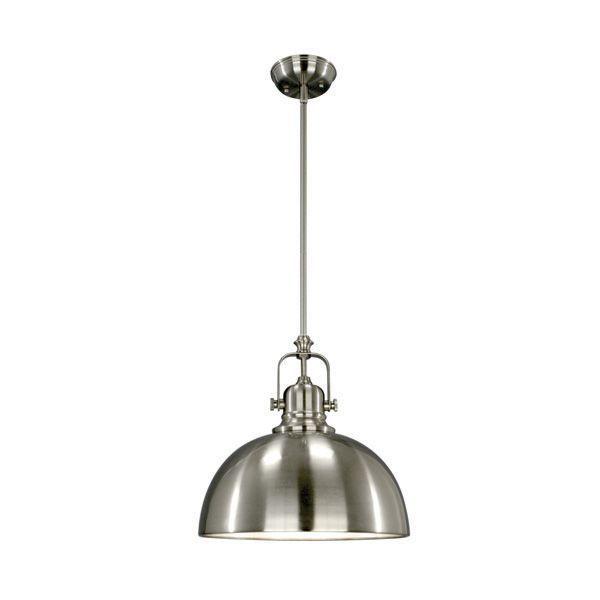 Canarm Ipl222b01bn Polo 1 Light Rod Pendant In Brushed Nickel My Dream Kitchen In 2019 Pendant Lighting Mini Pendant Lights Ceiling Pendant