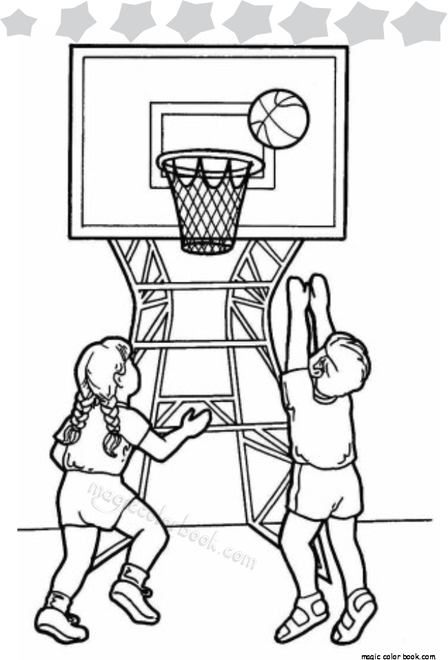 Two-Kids-Playing-Basketball-in-School-Gym-Coloring-Page.png (650×958 ...