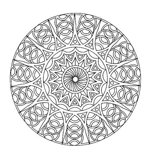 really hard mandala coloring pages | Free coloring page «coloring-free-mandala-difficult-adult ...