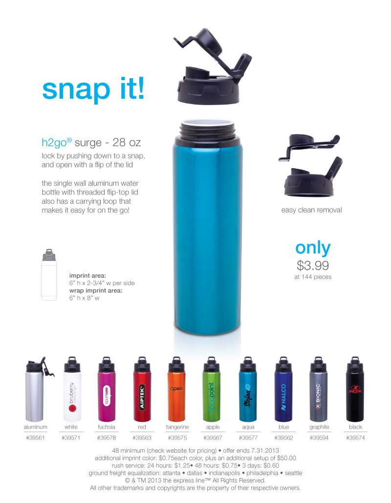 Hgo Surge Great For Hydrating On The Go This Single Wall - H2go water bottle