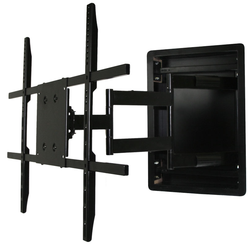 In Wall Tv Mount Recessed Articulating In Wall Tv Mount For 42 To 80 Inch Tvs Lcd Led Or Plasma Aeon 50101 Tv Wall Wall Mounted Tv Mounted Tv