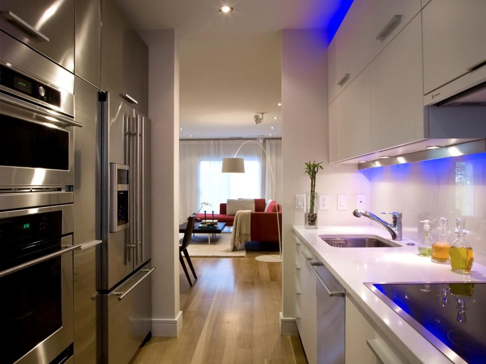 Pictures Of Small Kitchen Design Ideas From | Small Kitchen Layouts, Hgtv  And Kitchens