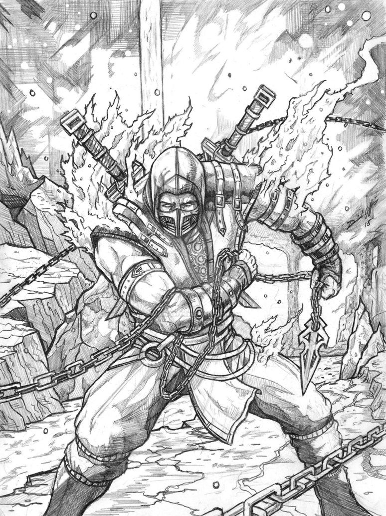 Mortal Kombat X Scorpion By Daniel Jeffries Deviantart Com On