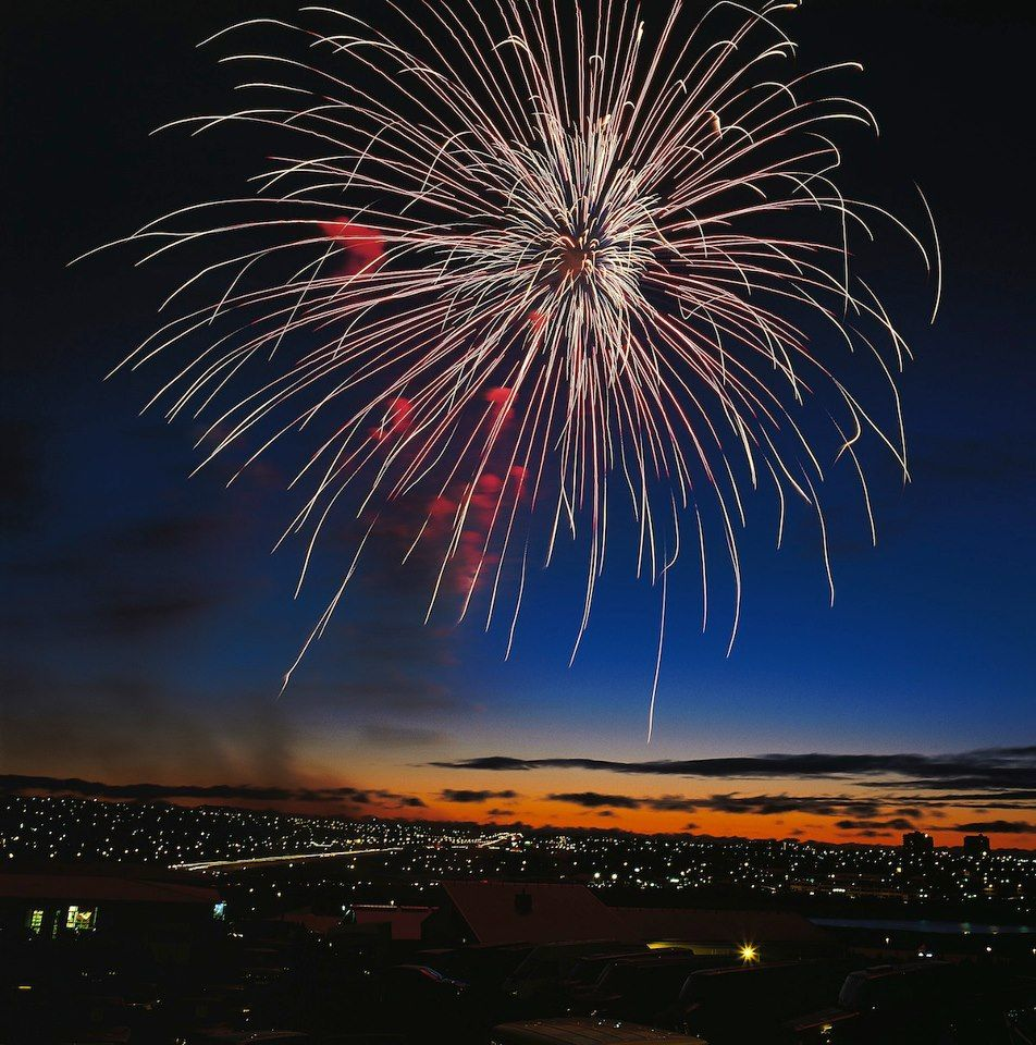 New Year's fireworks over Iceland (via Iceland Naturally