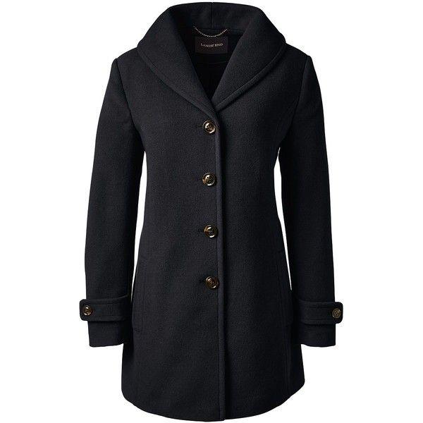 Lands' End Women's Plus Size Petite Wool Swing Coat (2.879.850 IDR ...