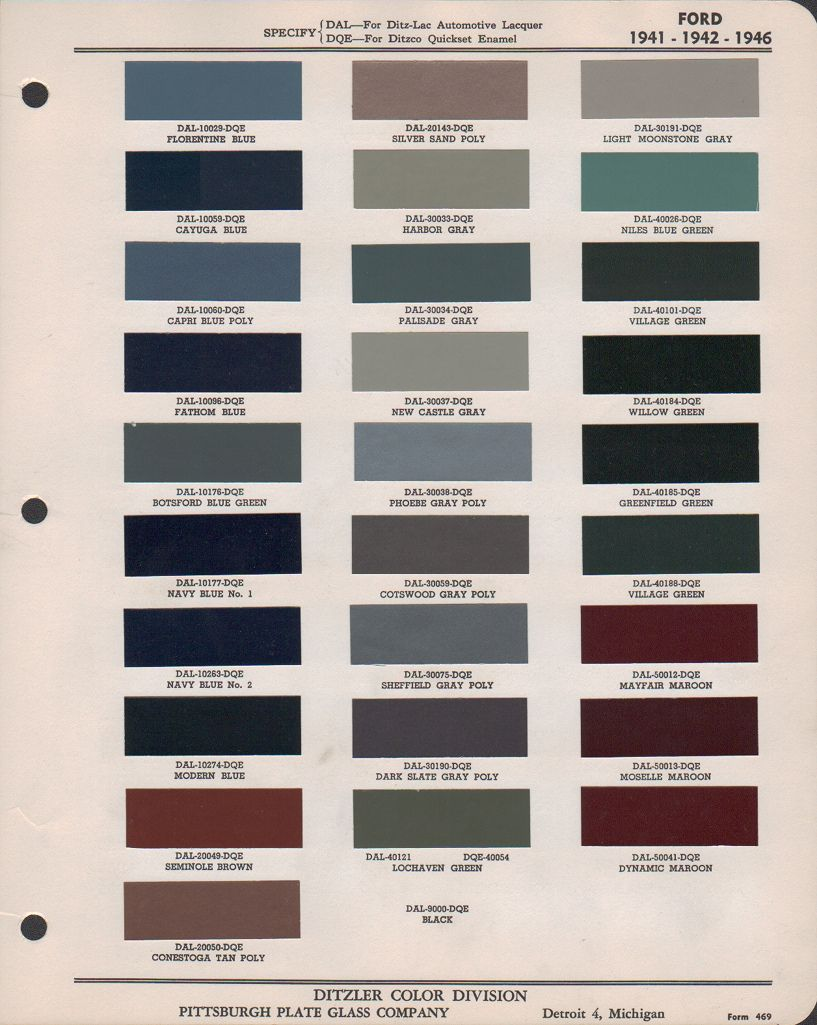 Paint Chips 1946 Ford Truck Ford Truck Ford Model Paint