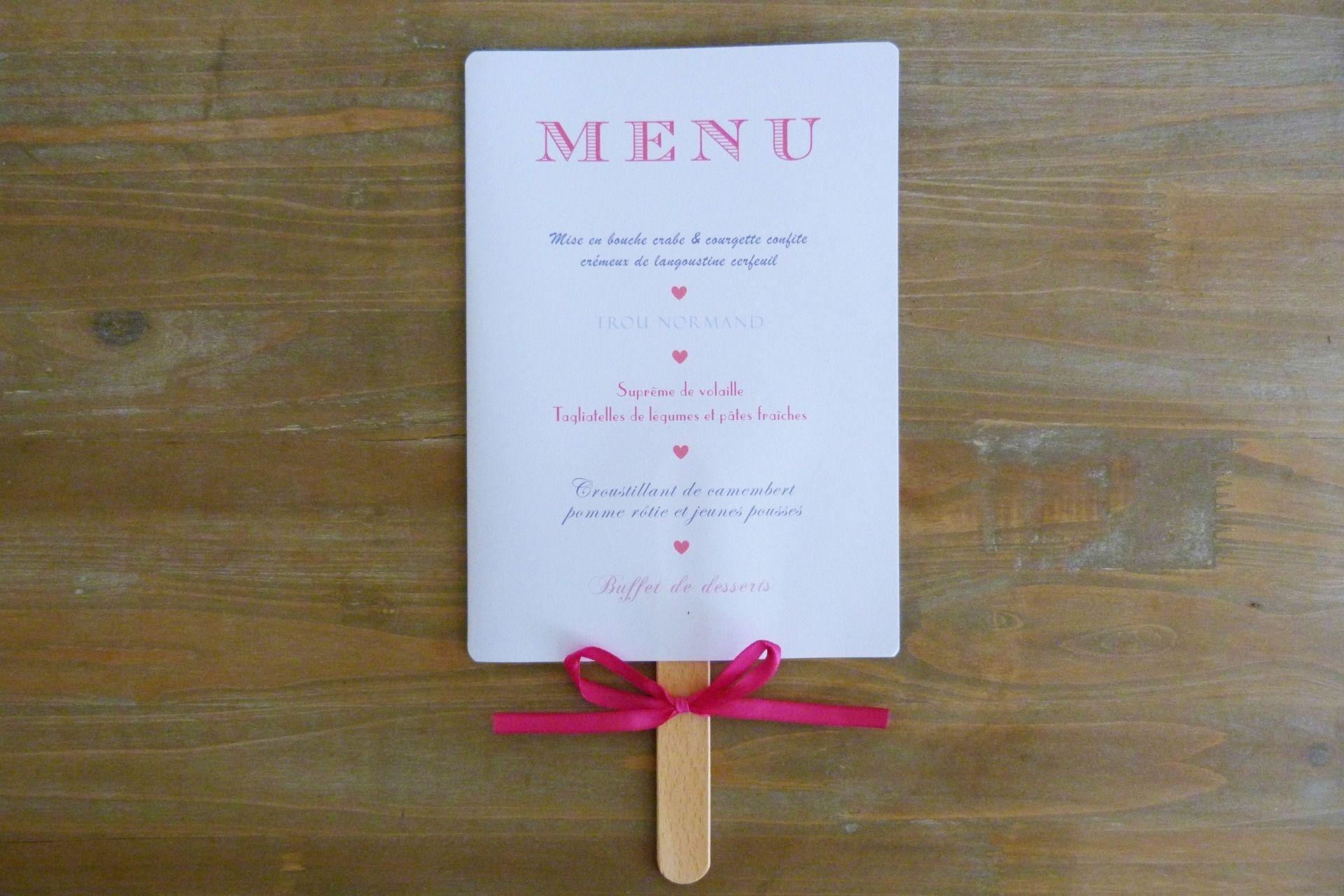 pr sentation du menu eventail sur b tonnet avec repas et vins faire part par les bulles. Black Bedroom Furniture Sets. Home Design Ideas