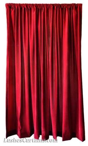 Window Treatments Drapes Solid Burgundy Velvet 84 Inch Curtain
