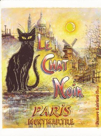 """""""LE CHAT NOIR""""  PARIS MONTMARTRE"""
