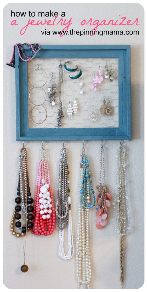 how to make a jewelry organizer wwwthepinningmamacom DIY and