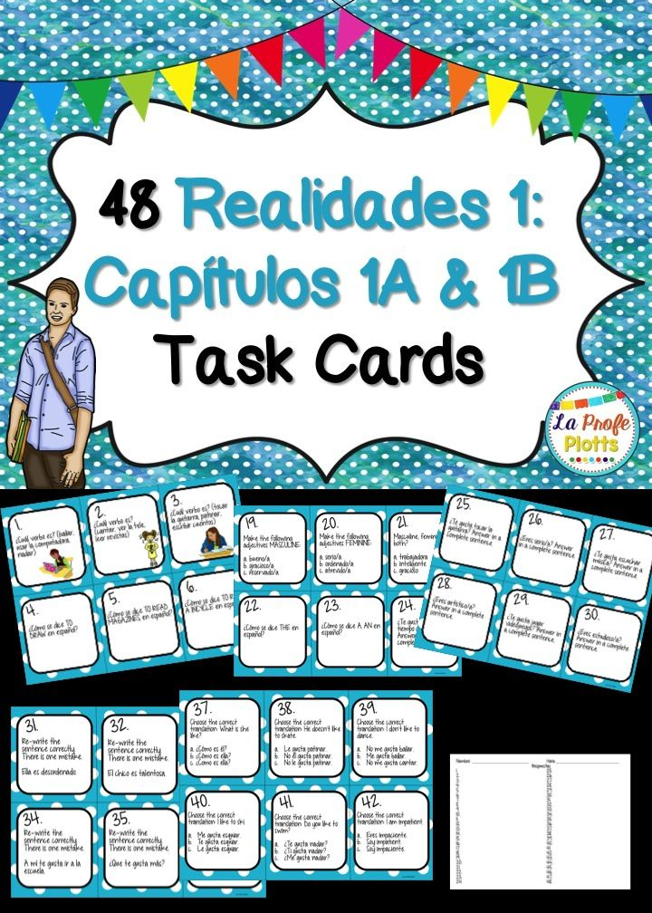 Printable Worksheets realidades 1 worksheets : Tired of boring worksheets? Get your students up and moving with ...