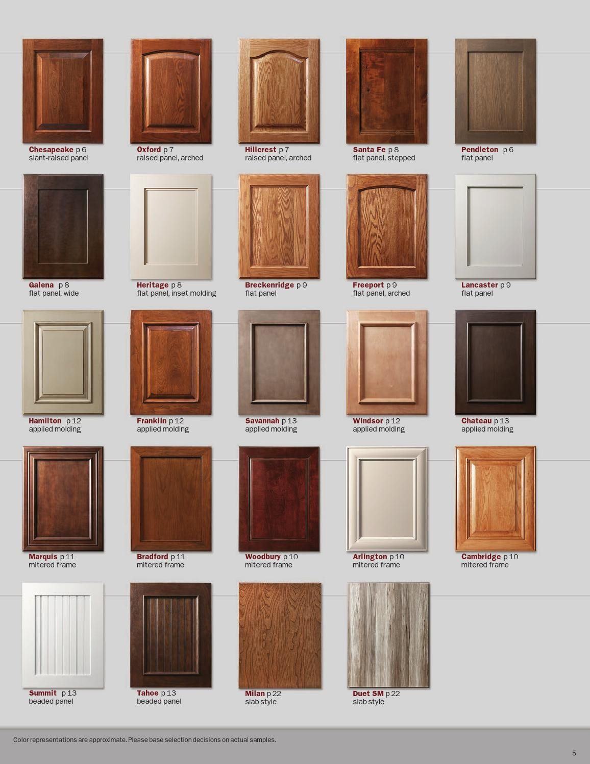 Showplace Renew Refacing Styles Woods Finishes Booklet