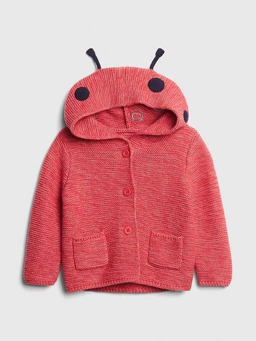 0fb9fb0e9 Gap Babies' Baby Ladybug Garter Hoodie Sweater Weathered Red in 2019 ...
