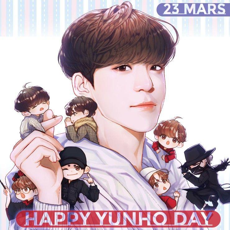 Oh Soo Cute All Those Chibi Yunho S Ahhh Ateez Jeongyunho Yunho Fan Art Kpop Fanart Kpop Drawings