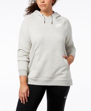 fadeae8b06f7 Nike Plus Size Sportswear Rally Fleece Hoodie - Gray 3X