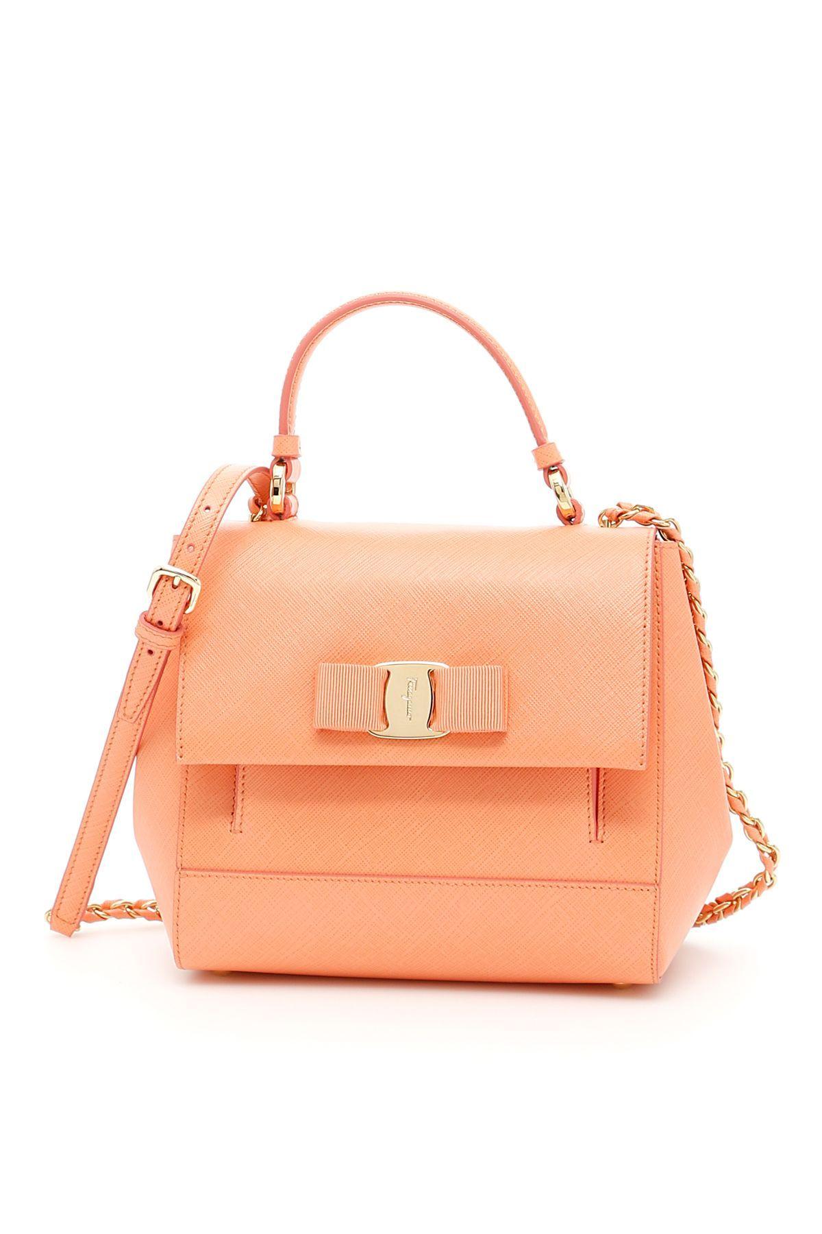 1499eace7057 SALVATORE FERRAGAMO SAFFIANO CARRIE BAG.  salvatoreferragamo  bags  shoulder  bags  leather  lining