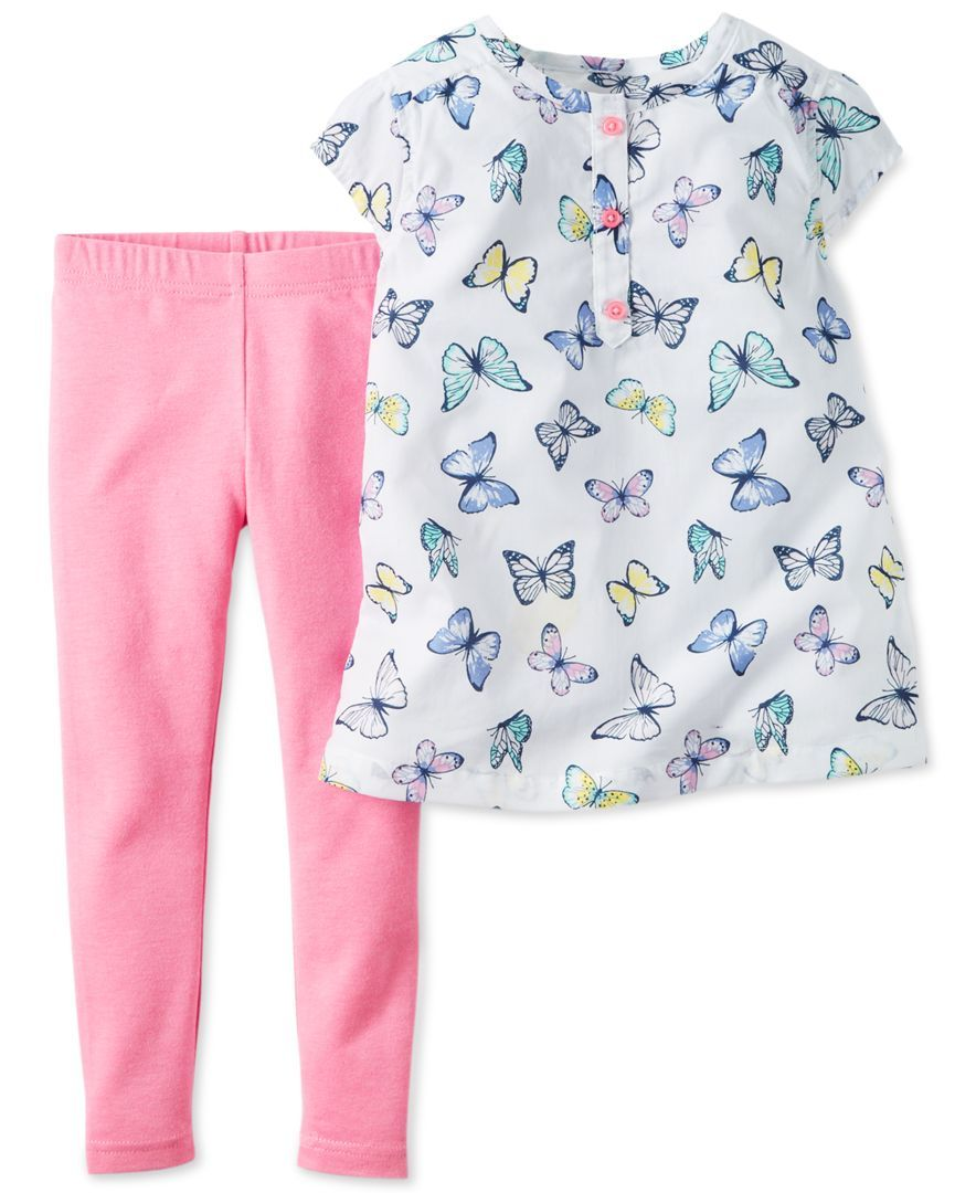 Carters Baby Girls Butterfly Print Leggings