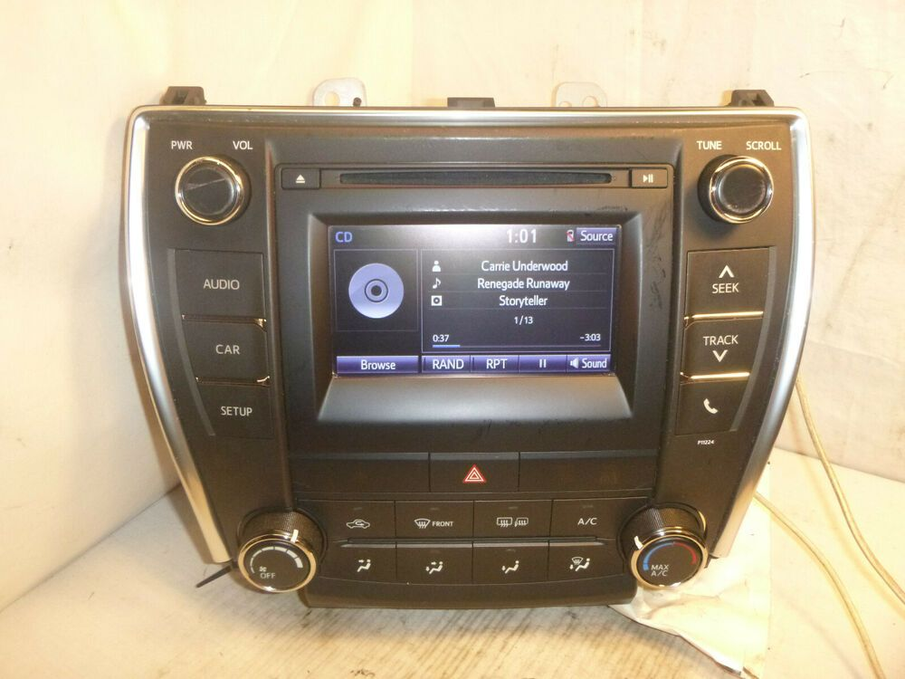 Advertisement eBay) 16 17 Toyota Camry Display Screen Radio